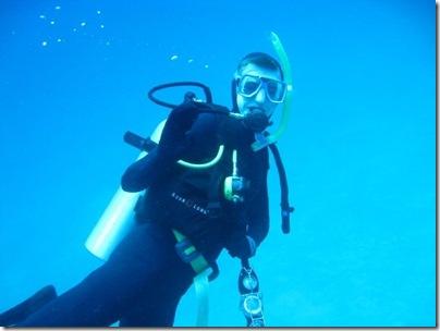 Alex underwater
