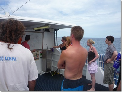 Dive briefing on the top deck